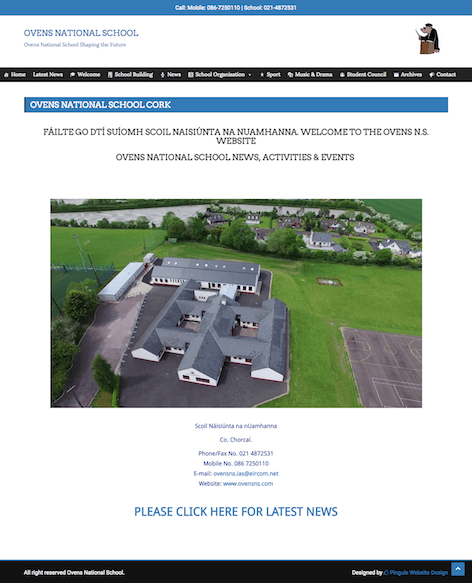 Ovens National School New Website Design