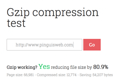 Gzip compression test for website design in kerry