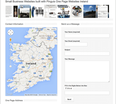 one page business websites in Kerry Cork and Ireland
