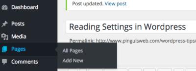 Home Page and Blog Page setup