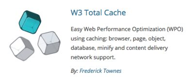 W3 Total Cache Website Design