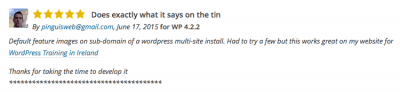 featured image comments on wordpress.com featured image plugin