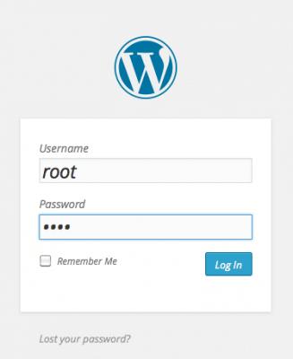 wordpress login screen irish wordpress training