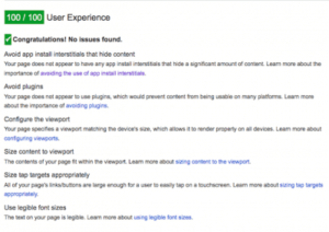 User Experience Google Page Speed in Ireland