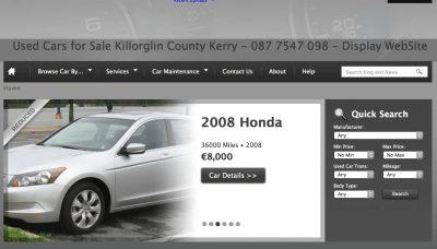 Car Sales Website Design Ireland
