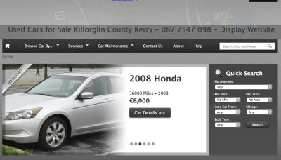 Car Sales Web Design Ireland