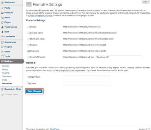 Re-Saving Permalinks Wordpres Website Design