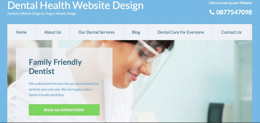 Pinguis Dental Health Website Design Ireland