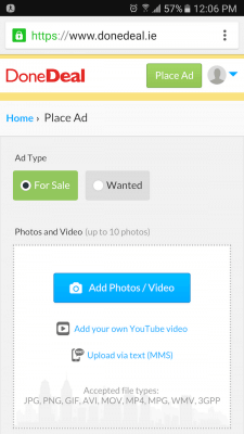 DoneDeal How to Place Ad with Pictures