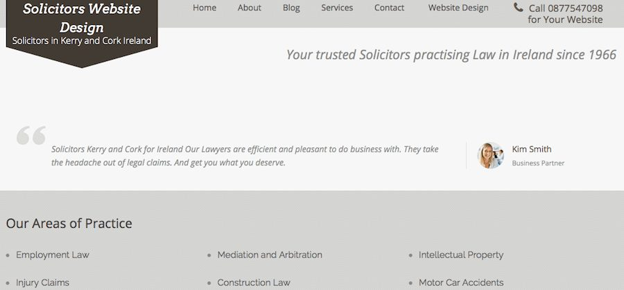 Solicitors Website Design in Ureland