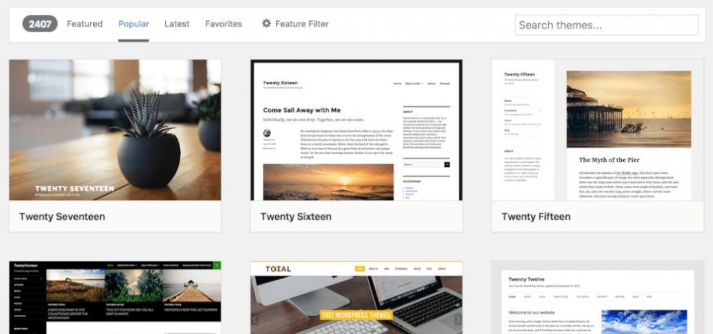 Add Themes from Wordpress.org