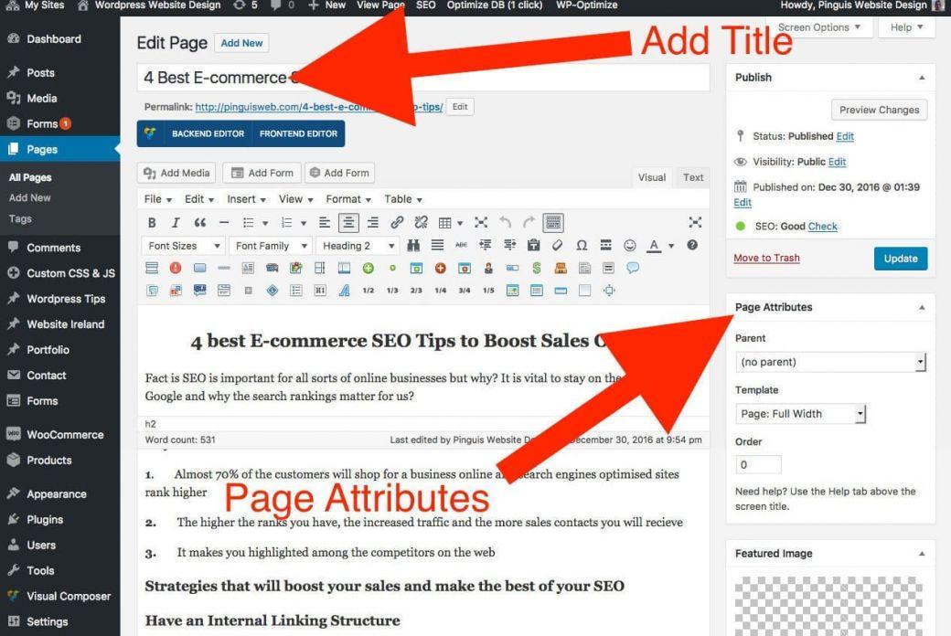 Edit Page ‹ WordPress Website Design Ireland