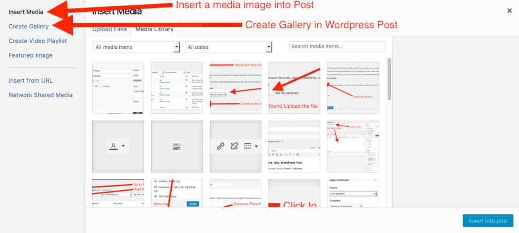 How to Add Media or a gallery WordPress Posts