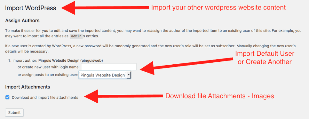 Import WordPress Authors Import File Attachments