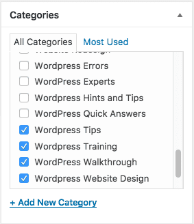 Assign WordPress Category to Post